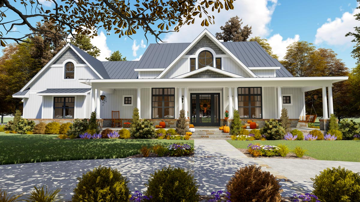 Living Out My Country Home Plan Dream 16904wg
