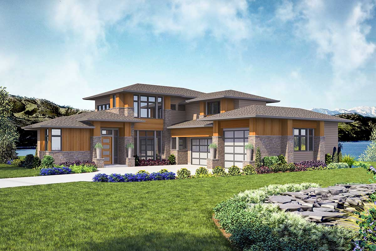 Modern 4-bed House Plan With Indoor Outdoor Living