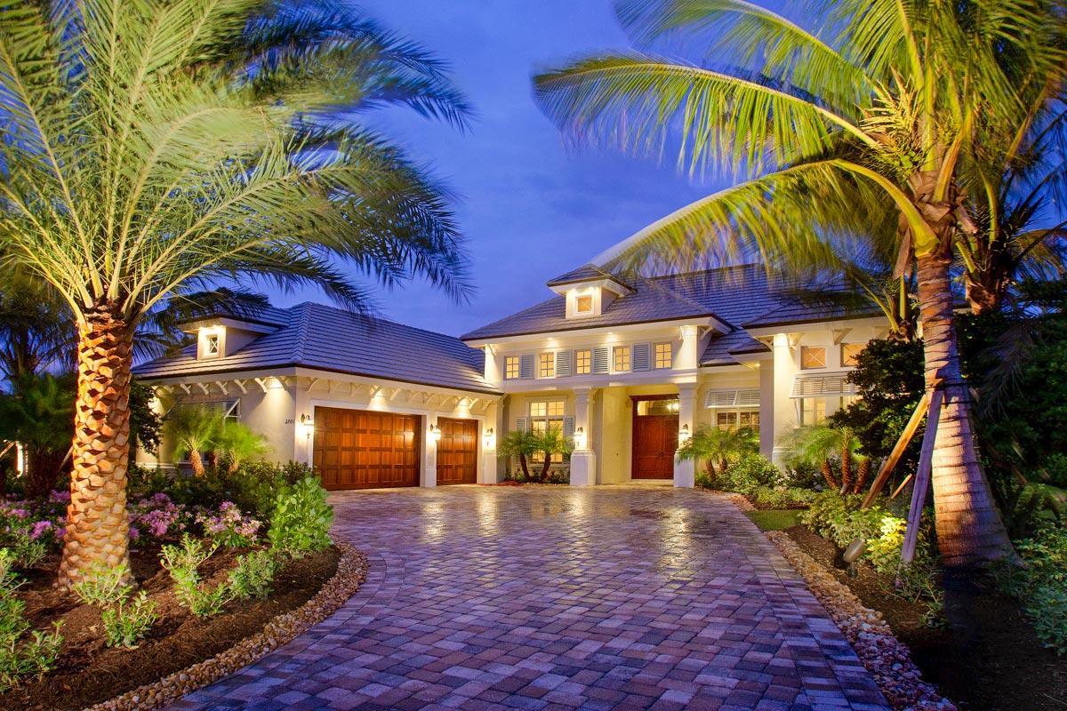 Luxurious Mediterranean Beach Home Plan with Private ...