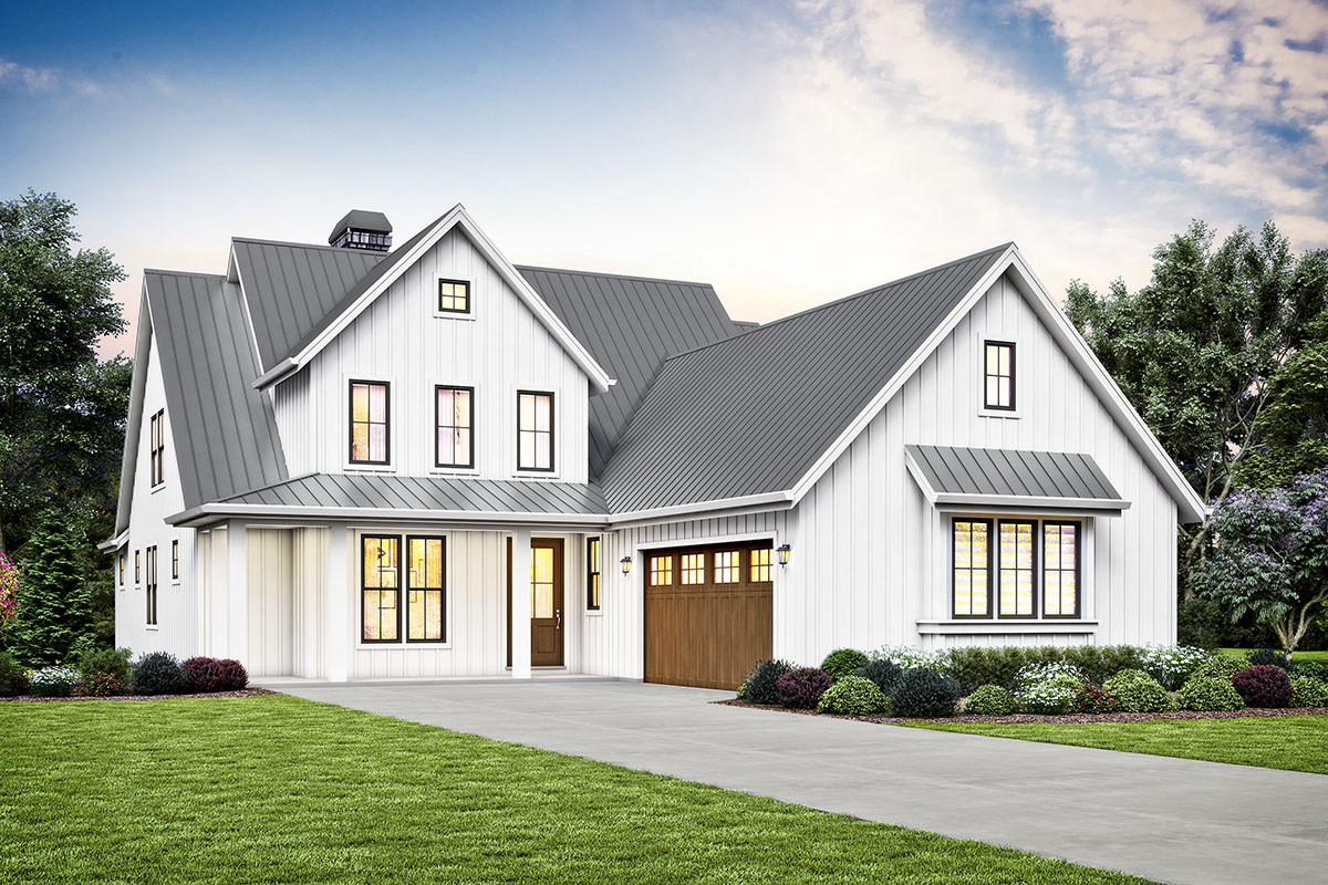 Fresh 3-bed House Plan With Vaulted Great Room - 69743am