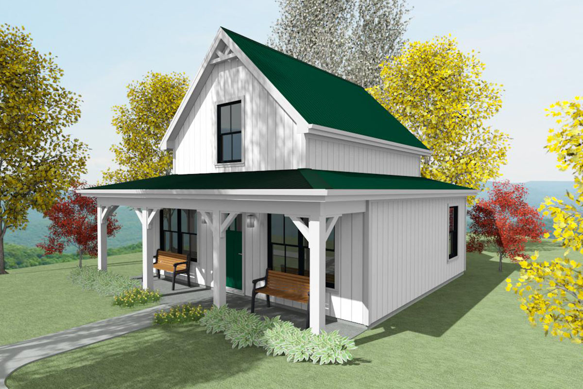 Tiny Two Bed Cottage With Cozy Front Porch 430806sng