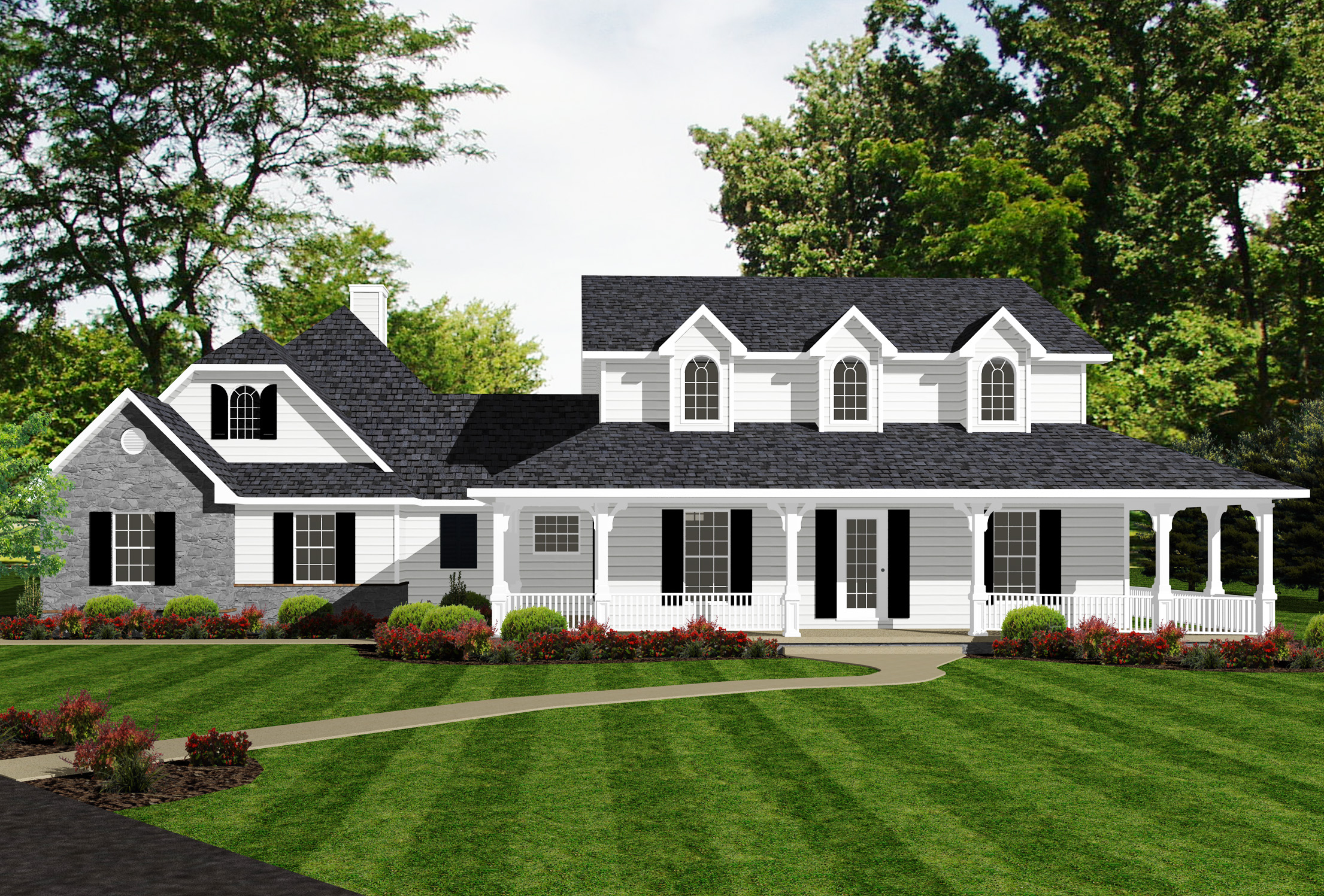 Farmhouse With Classy Master Suite - 3484vl