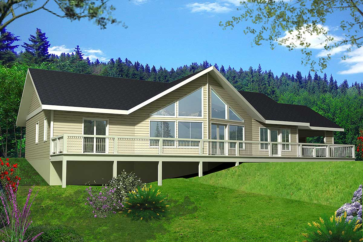 Mountain Ranch With Great View Deck - 35328gh