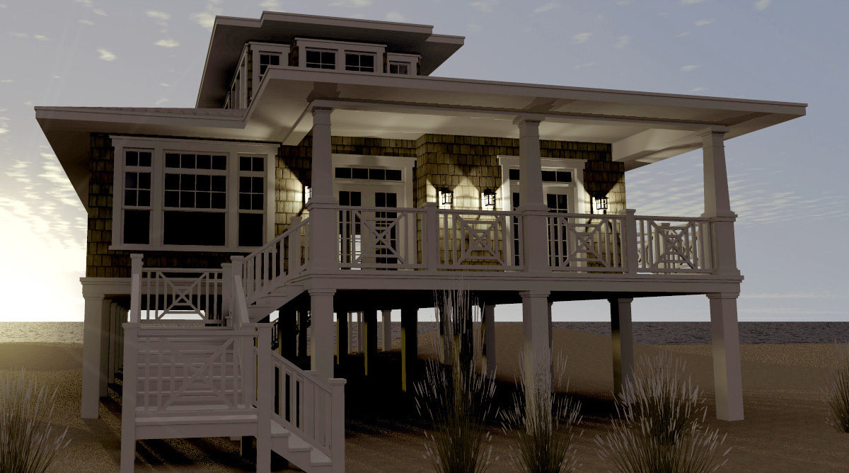 Beach House Plans  Architectural Designs