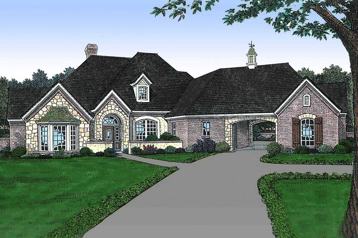 Old World French Country House Plan 48137fm