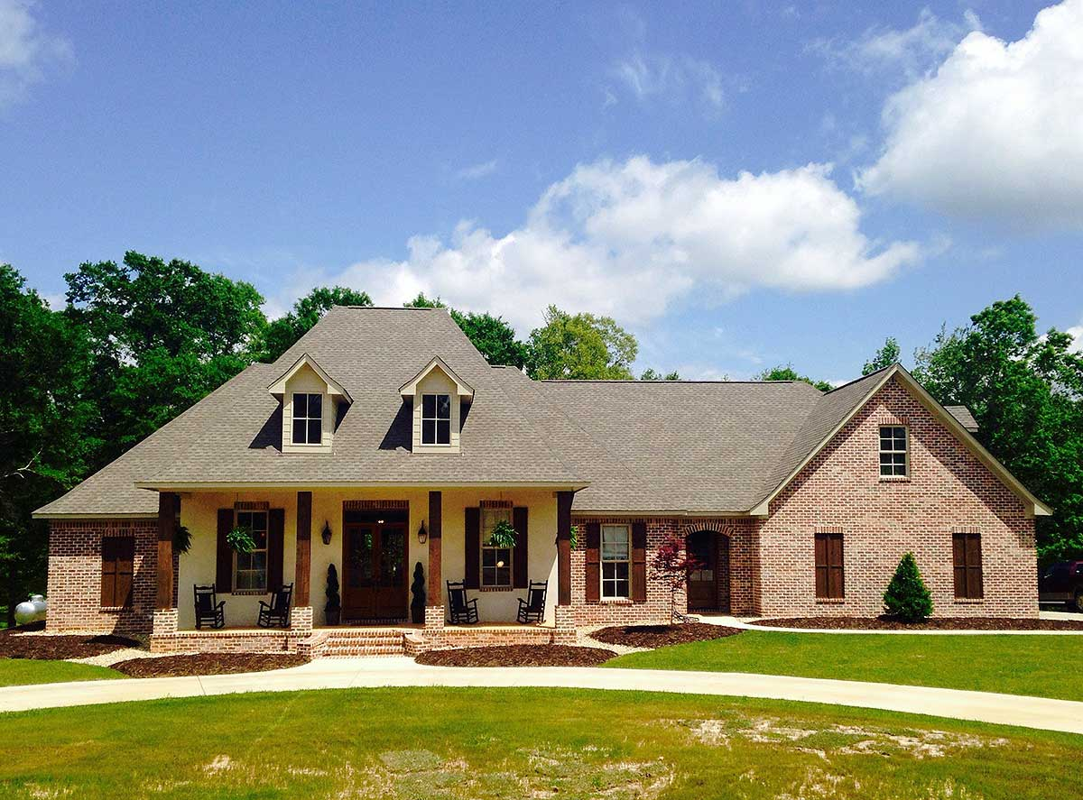 French Country Home Plan With Bonus Room - 56352sm
