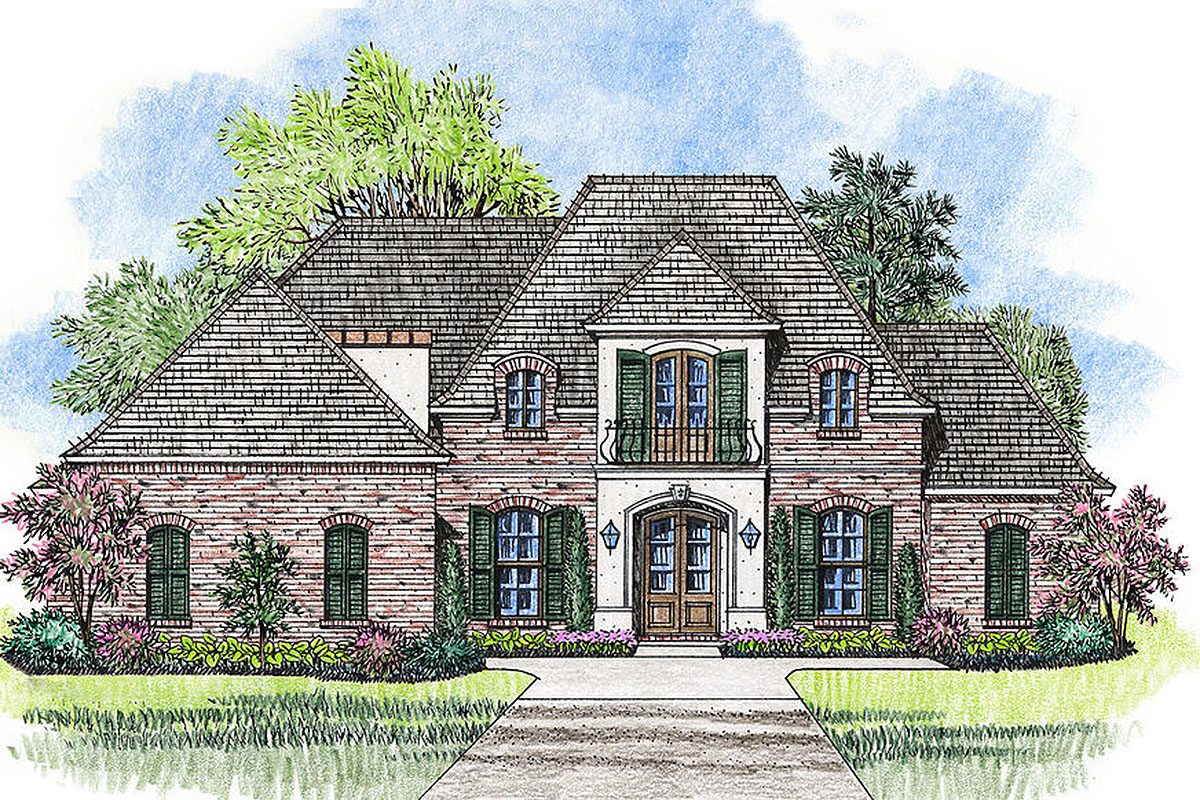 4 Bed French Country Home Plan With Bonus Room - 56402sm