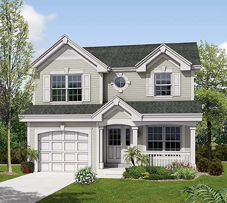 Compact Two Story For A Small Site 57117ha