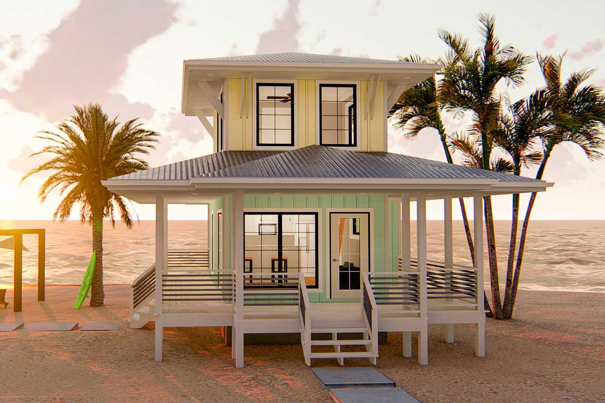 Beach Lover S Dream Tiny House Plan 62575dj