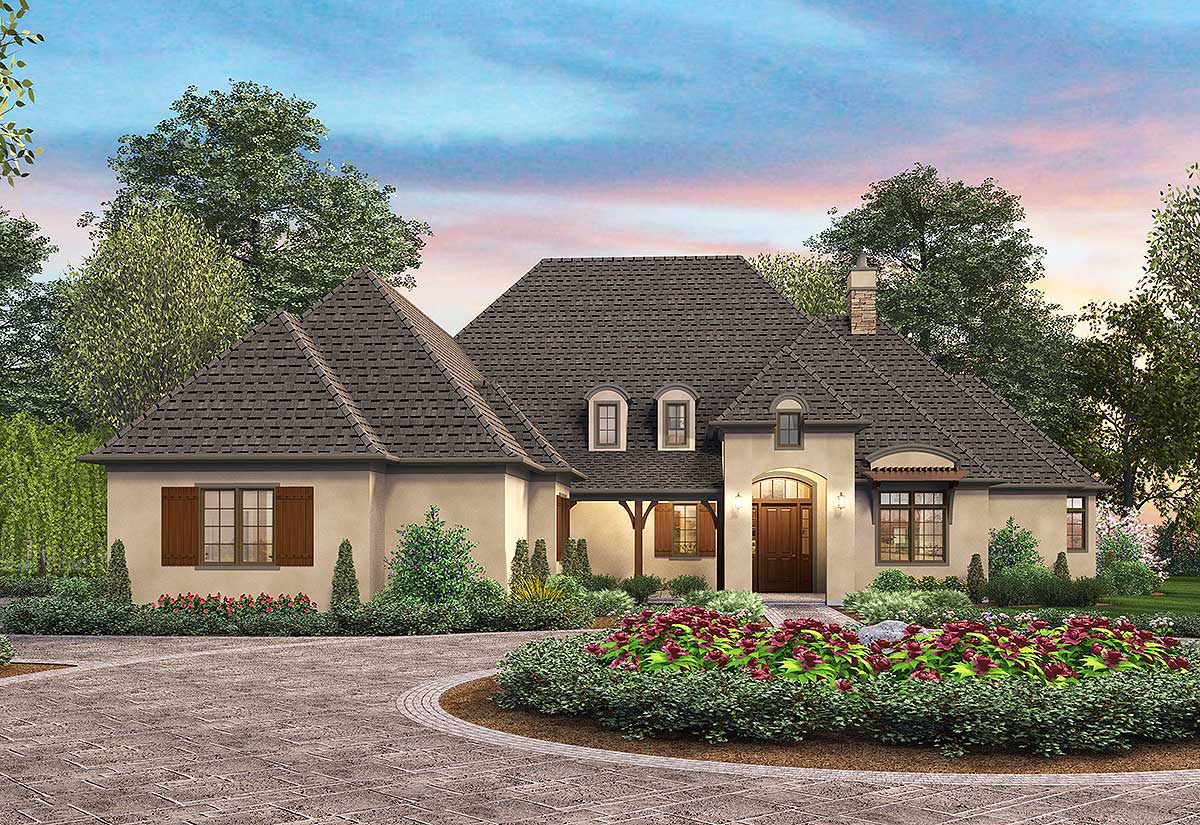 French Country Elegance - 69578am Architectural Design