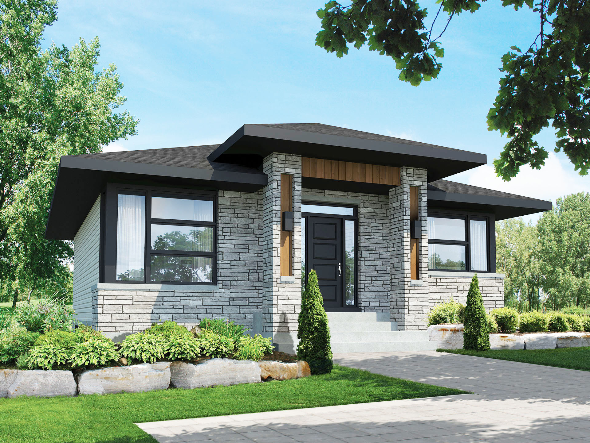Compact Contemporary House Plan 80791pm Architectural