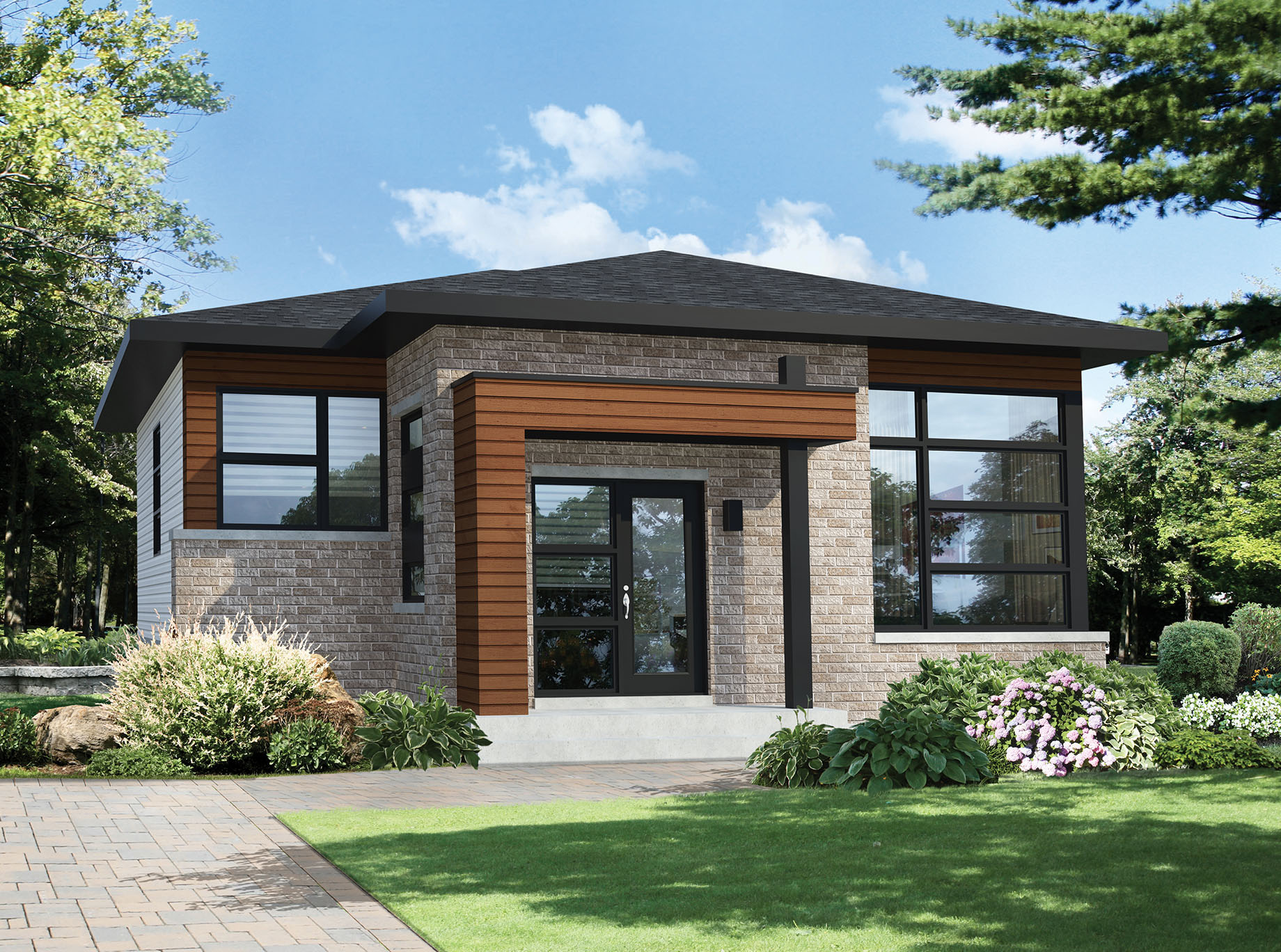 Two Bedroom Modern House Plan  80792PM  Architectural