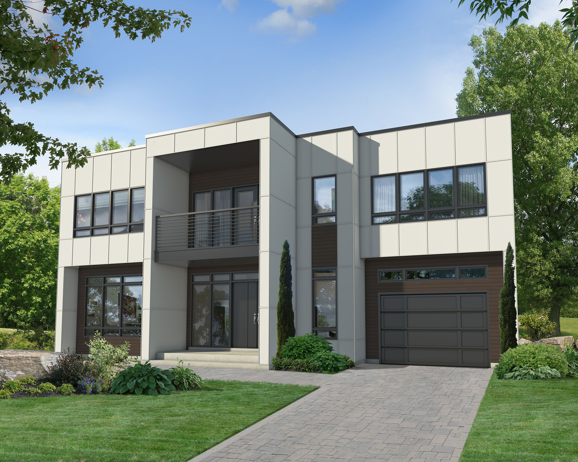 Two Story Modern House Plan 80829pm Architectural