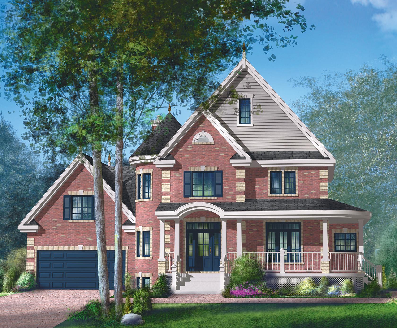 Brick Victorian House Plan - 80835pm Architectural