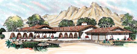 Sprawling Southwestern Ranch Home 81360w Architectural