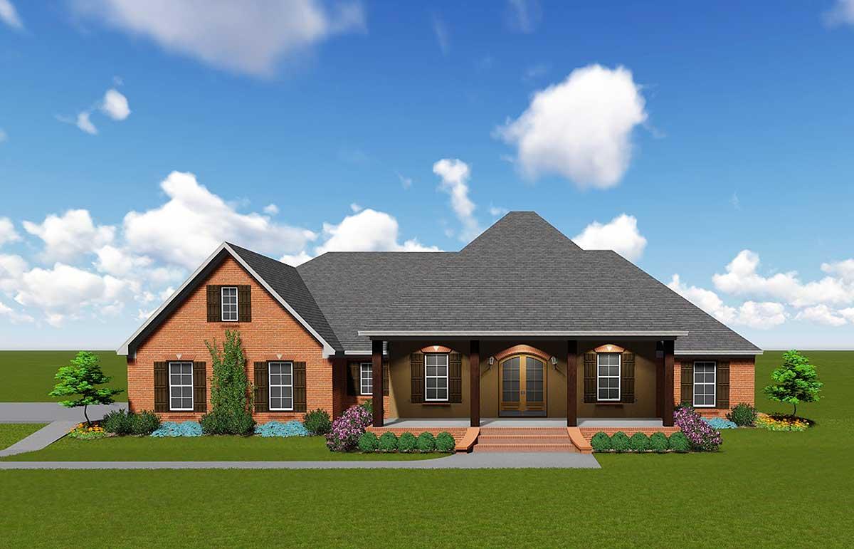 Sprawling Southern House Plan 83868jw Architectural