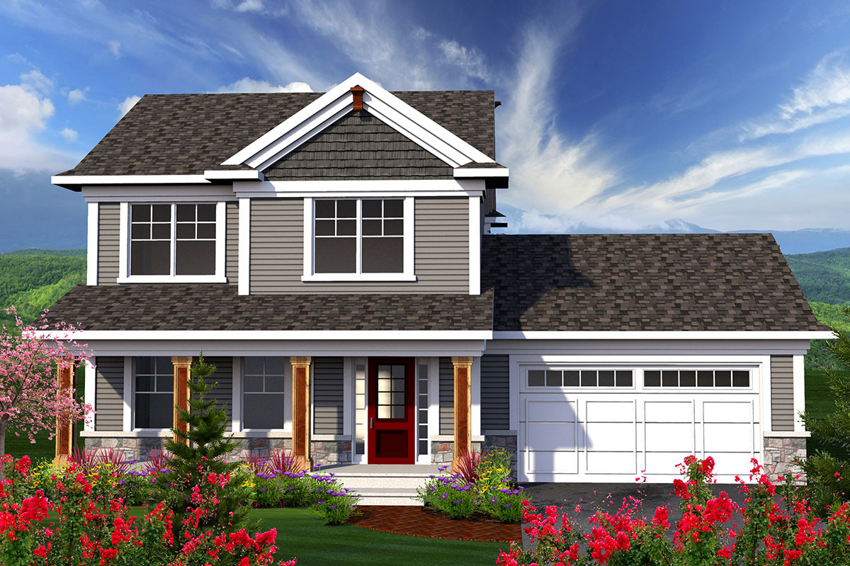 2 Story Home With Large Front Porch 89906ah
