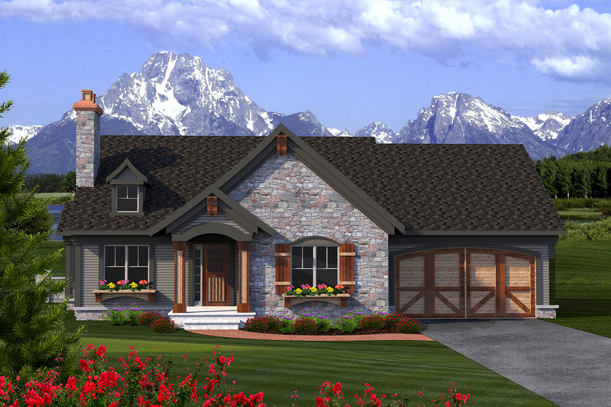 2 Bed Rustic Ranch With Stone Exterior - 89933ah