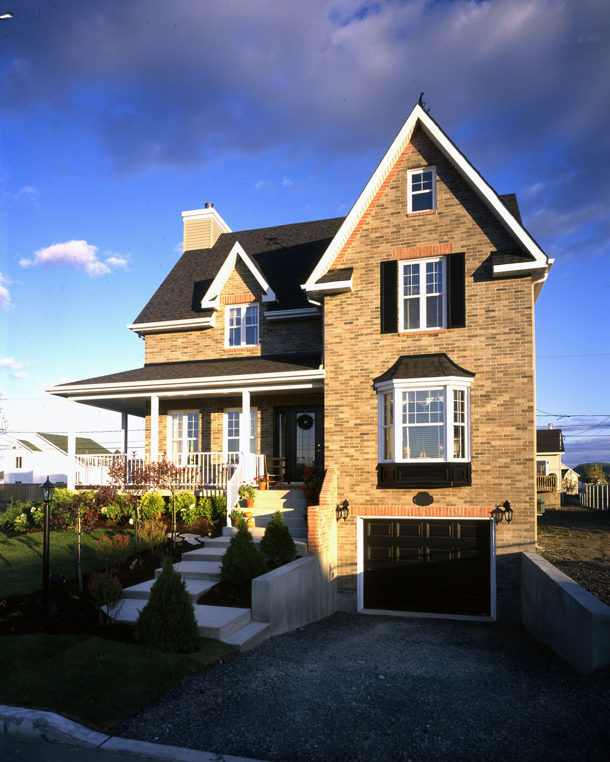 Farmhouse With 3 Sided Wraparound Porch 90167PD