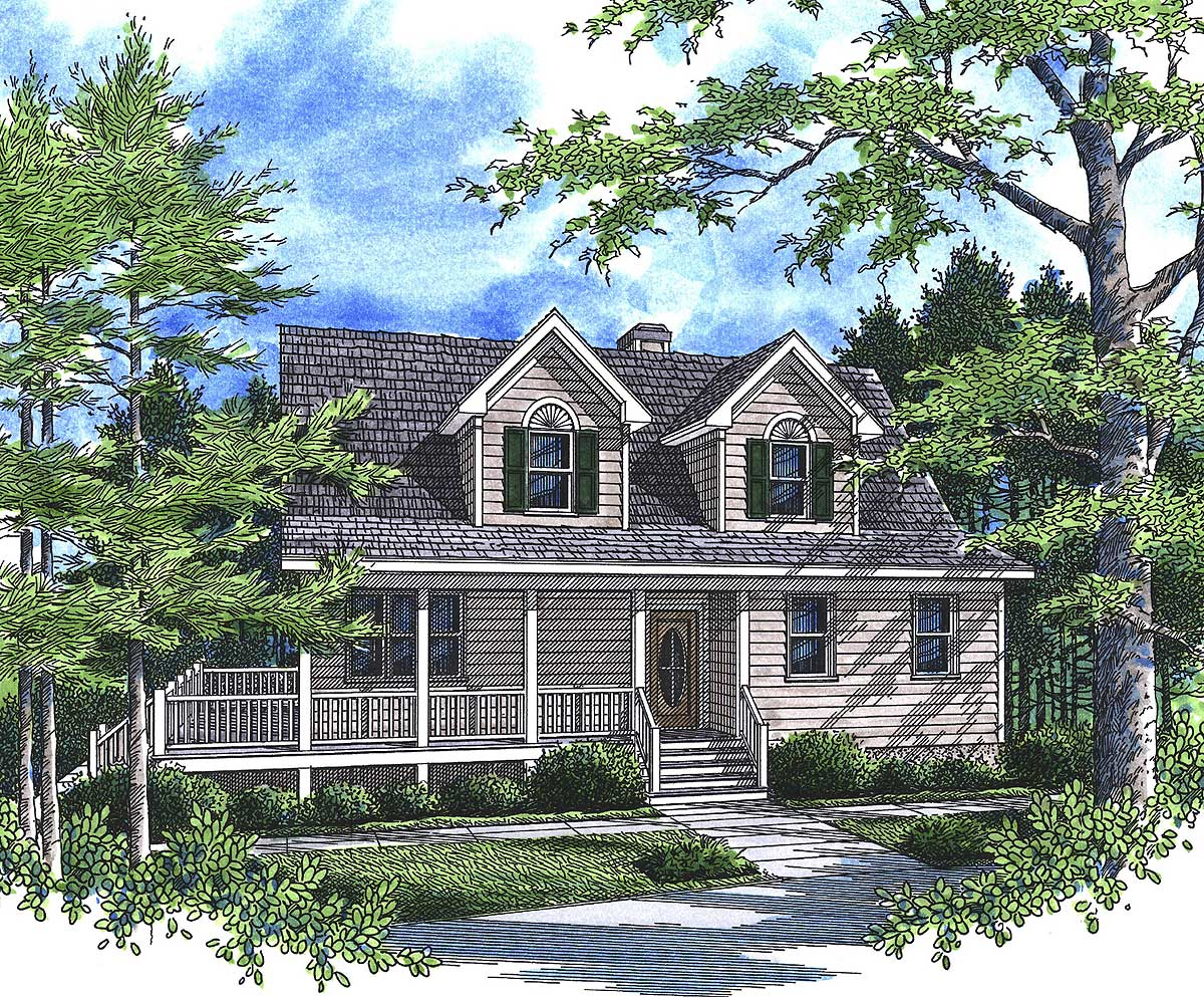 Great Country Retreat 92006vs Architectural Designs