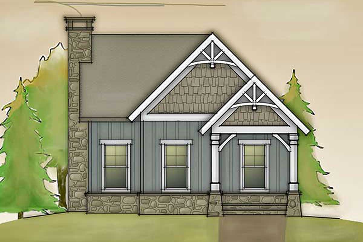 Cottage With Barn Doors And Loft - 92365mx Architectural