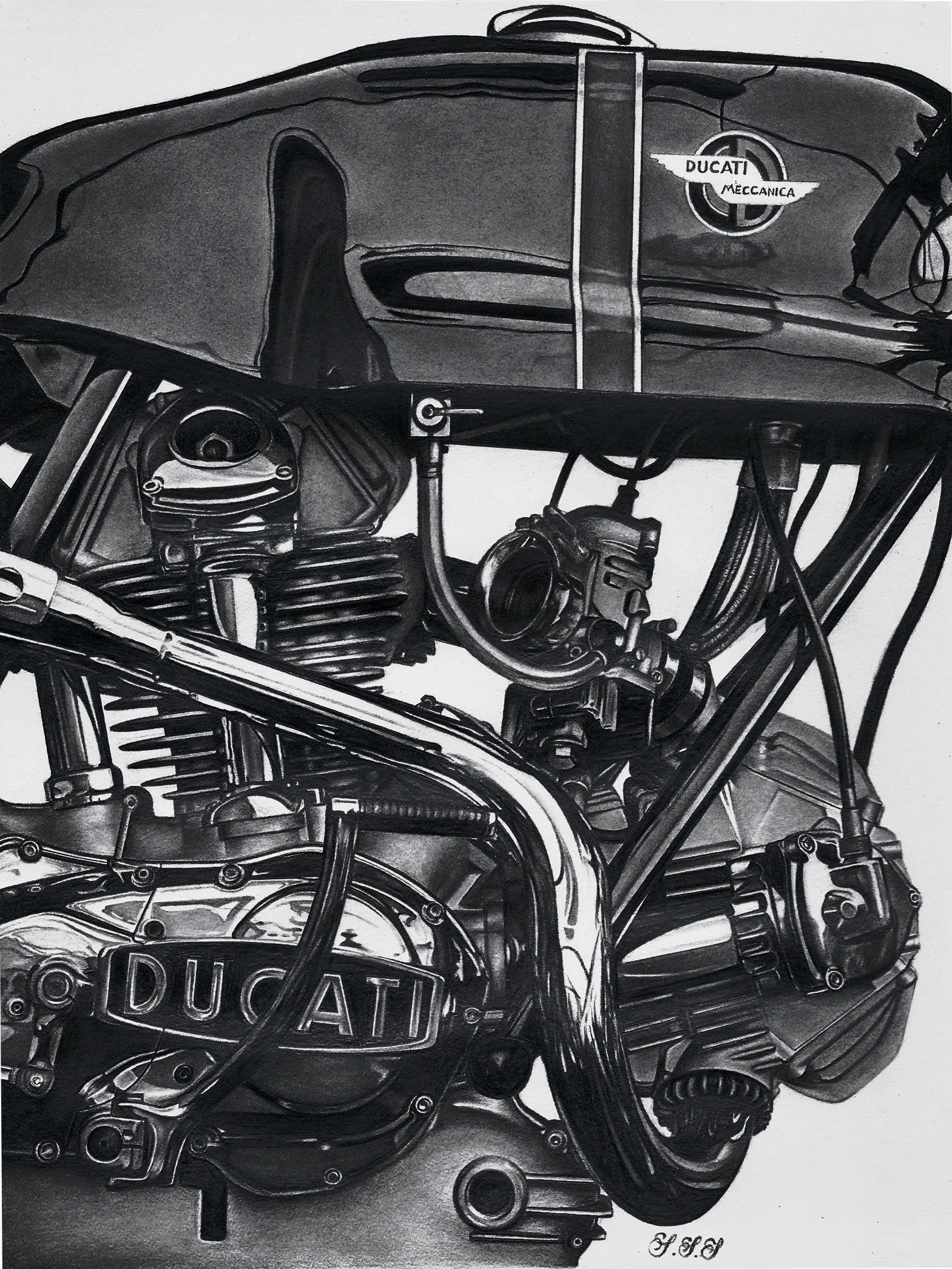hight resolution of old ducati