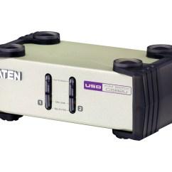 Ps2 To Usb Cable Diagram Crabtree Rj45 Module Wiring 2 Port Ps Vga Kvm Switch Cs82u Aten Desktop Switches 1
