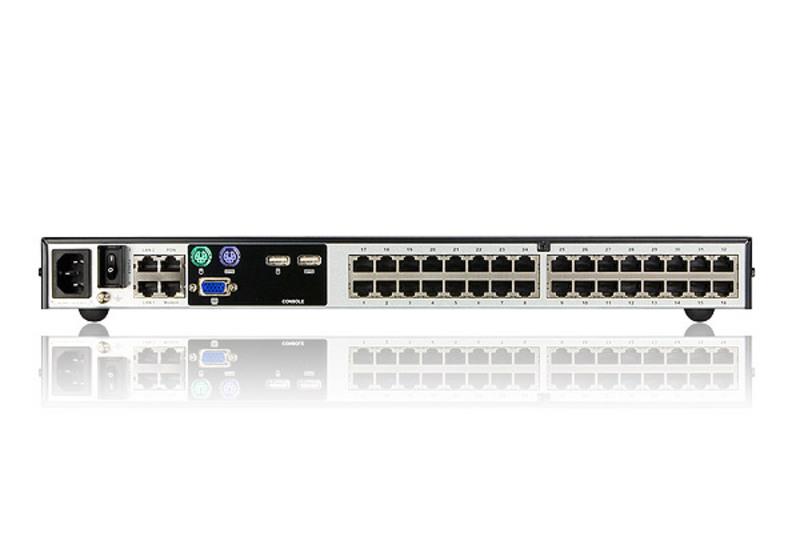 1位本地/2位遠端使用者存取 32埠Cat 5 KVM over IP切換器遠端電腦管理方案(1600 x 1200) - KN2132. ATEN 遠端KVM多電腦切換器
