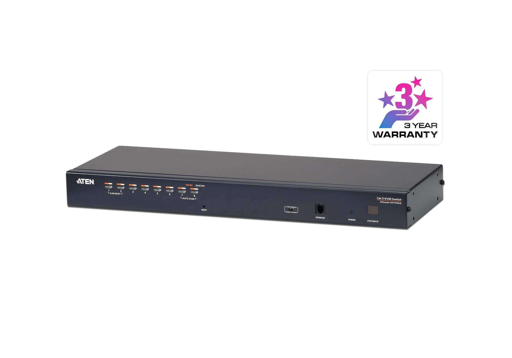 8埠Cat 5 KVM多電腦切換器支援菊鏈串接功能 - KH1508A. ATEN Cat 5 KVM多電腦切換器