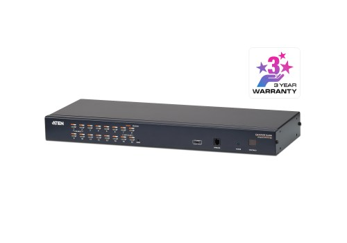 small resolution of 16 port cat 5 kvm switch with daisy chain port 1