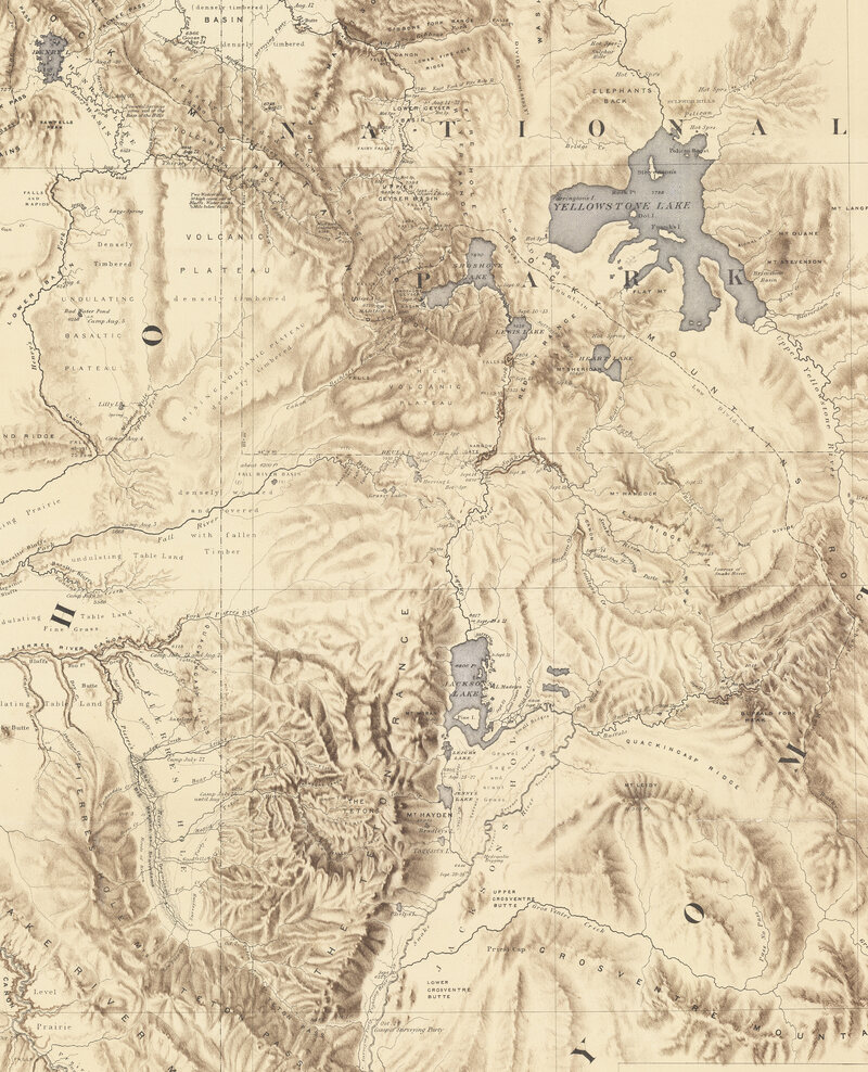 6.2359° N, 75.5751° W,Gustavus Bechler, Map of the Sources of Snake River, 1872.
