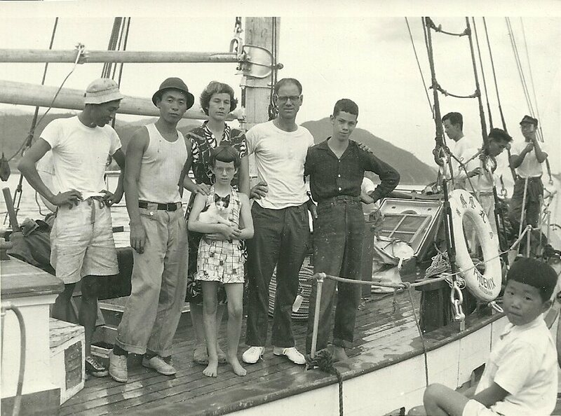 Leaving Japan, 1954.