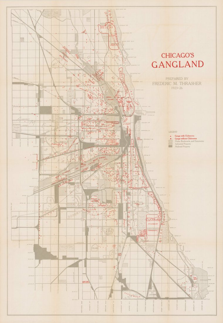 La carte complète de <em> de Chicago Gangland de Thrasher. </ Em>