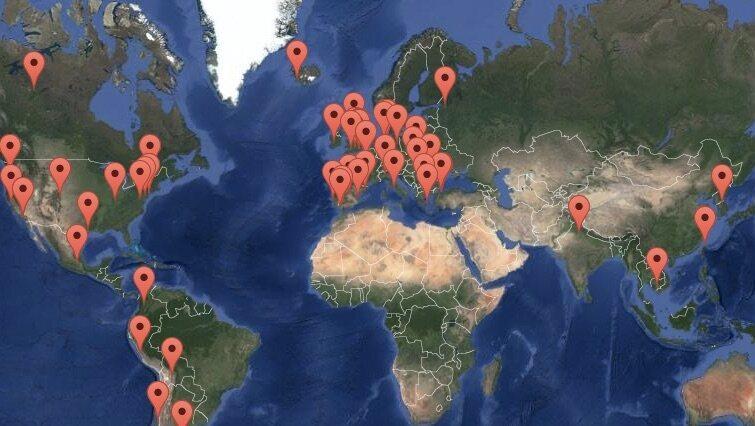 Le projet comprend des sons de protestation provenant de 27 pays.