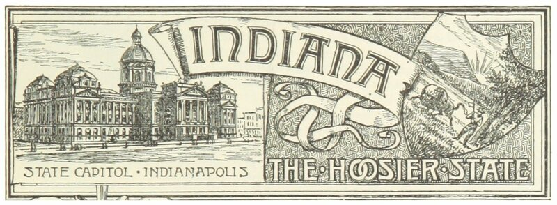 "An emblem for Indiana, ""the Hoosier State,"" from 1891."