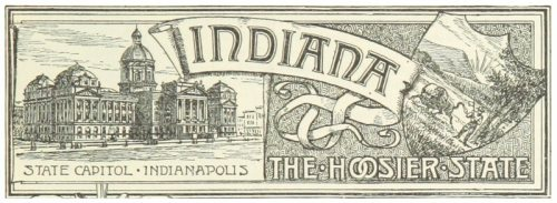 """An emblem for Indiana, """"the Hoosier State,"""" from 1891."""