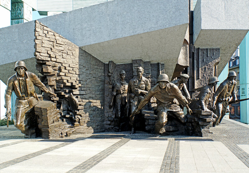 The Warsaw Uprising Monument.
