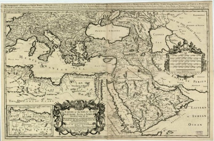 A 17th-century map of the Ottoman Empire.