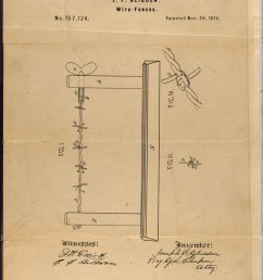 j f glidden s 1874 patent for barbed wire improved on a previous design and was quickly adopted [ 800 x 1172 Pixel ]