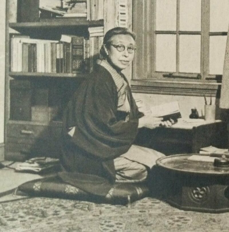 Raichō Hiratsuka in 1949.