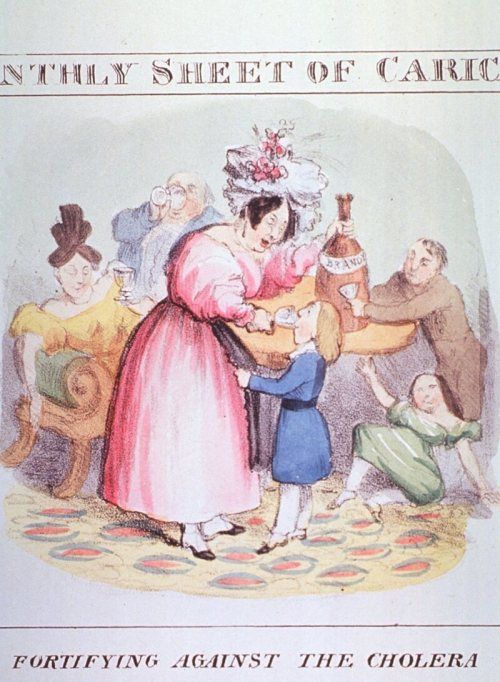 Back in the 19th century, alcohol was thought to cure cholera.
