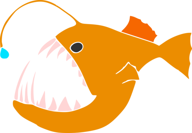 Thaler's prototype design for the anglerfish emoji.