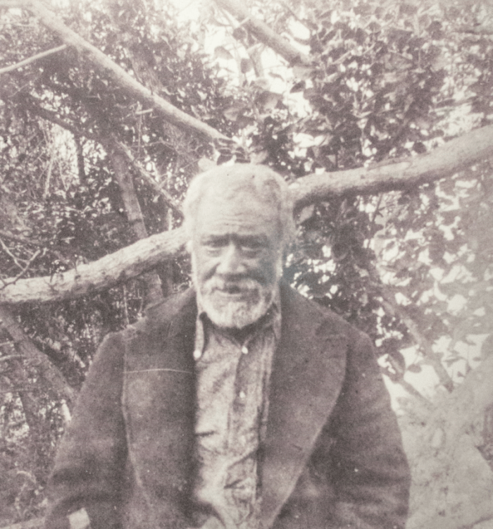 A 1900 photo from the Canterbury Museum, in New Zealand, shows a Moriori man.