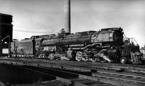 Union Pacific locomotive 4014 as it appeared when it was operating in the 1950s.