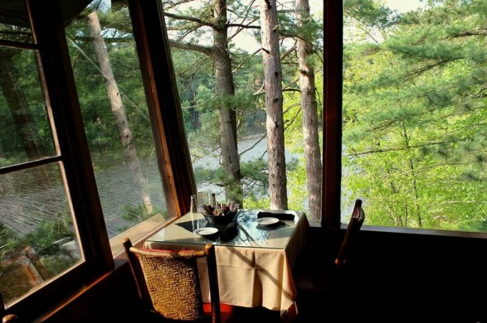 The corner table at Ishnala, in Wisconsin Dells, is a popular spot for proposals.
