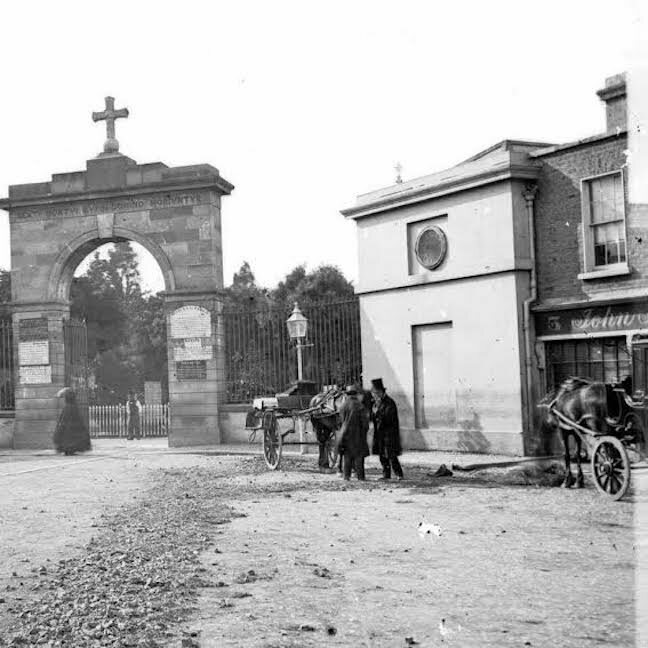 What would later become John Kavanagh the pub, pictured circa 1800.