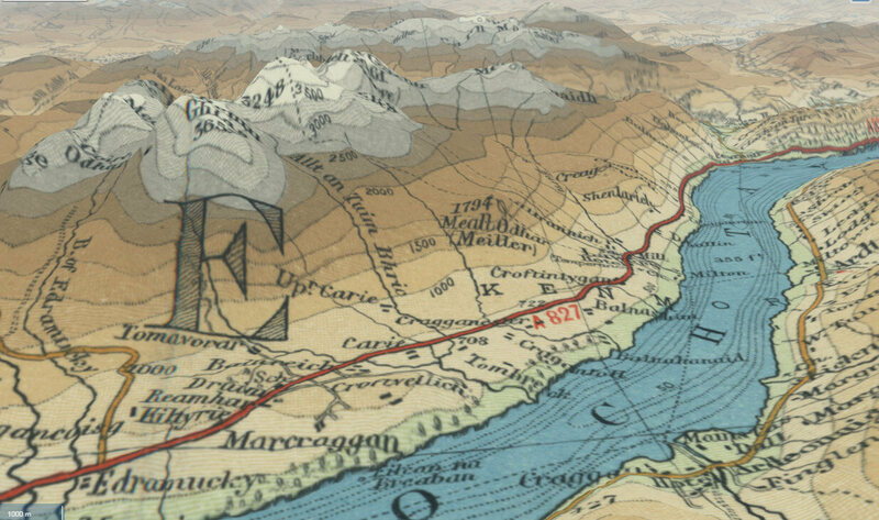 This portion of the Bartholomew map focuses on Ben Lawers and Loch Tay.