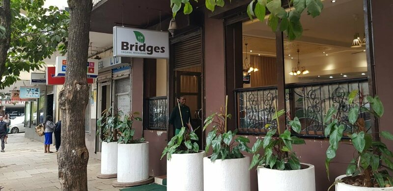 Both Bridges Organic Restaurant and Ranalo Foods are located in the CBD, Nairobi's central business district.