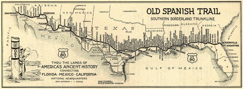 The Old Spanish Trail Association S Map Of The Road Image Courtesy Of Ost100