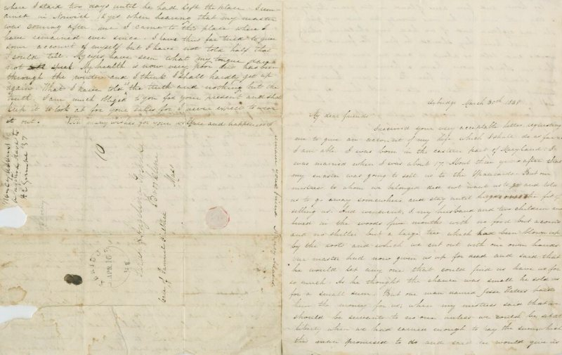 The letter Adams dictated to the Grimké sisters.